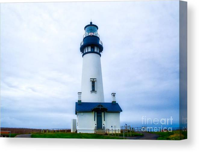 Yaquina Lighthouse Canvas Print featuring the photograph Yaquina Lighthouse by Alex Peralta