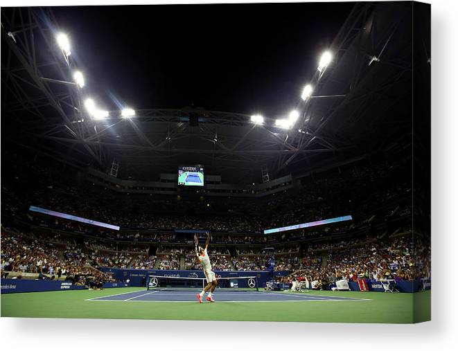 Tennis Canvas Print featuring the photograph 2015 U.s. Open - Day 4 by Al Bello
