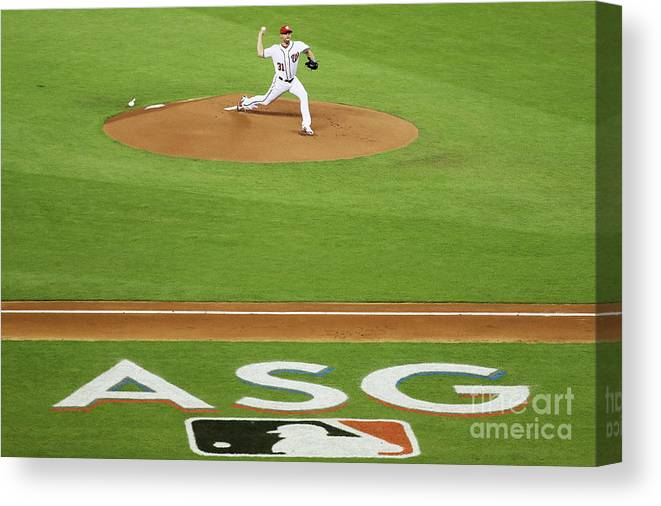 People Canvas Print featuring the photograph 88th Mlb All-star Game 1 by Rob Carr