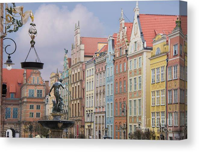 Architecture Canvas Print featuring the photograph Gdansk, Poland by Juli Scalzi
