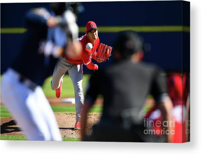 Maryvale Canvas Print featuring the photograph Los Angeles Angels Spring Training by Masterpress