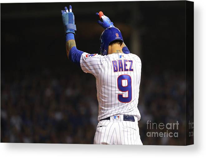 Playoffs Canvas Print featuring the photograph National League Wild Card Game Colorado by Alex Trautwig