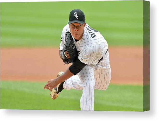 American League Baseball Canvas Print featuring the photograph Seattle Mariners V Chicago White Sox 1 by Brian Kersey