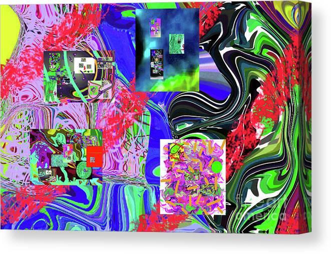 Walter Paul Bebirian Canvas Print featuring the digital art 11-8-2015babcdefghijklmnop by Walter Paul Bebirian