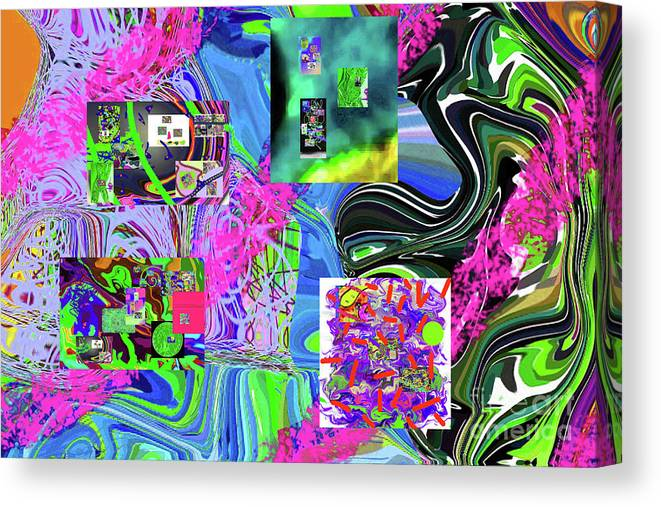 Walter Paul Bebirian Canvas Print featuring the digital art 11-8-2015babcdefghijklmnopqrt by Walter Paul Bebirian