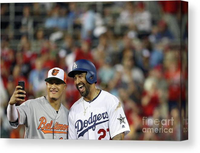 Second Inning Canvas Print featuring the photograph 89th Mlb All-star Game, Presented By 11 by Patrick Smith