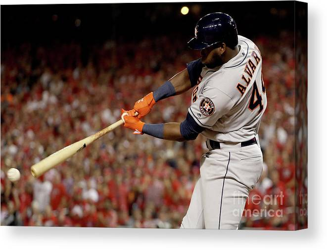 American League Baseball Canvas Print featuring the photograph World Series - Houston Astros V by Patrick Smith