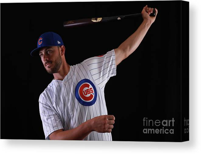 Media Day Canvas Print featuring the photograph Chicago Cubs Photo Day 12 by Gregory Shamus