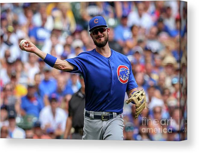 Three Quarter Length Canvas Print featuring the photograph Chicago Cubs V Milwaukee Brewers 15 by Dylan Buell