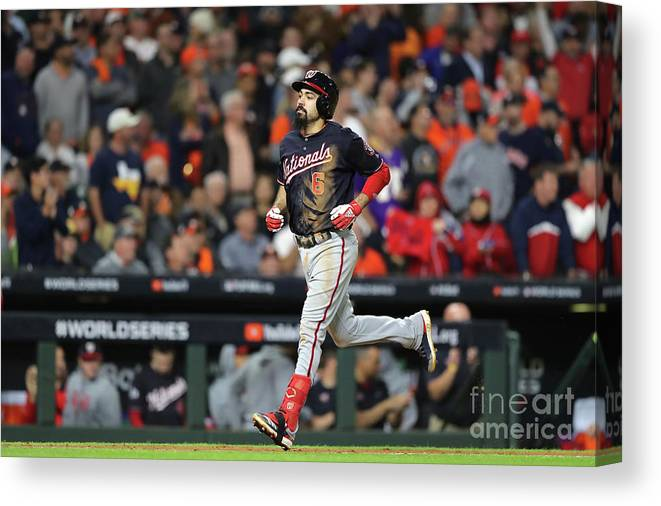 People Canvas Print featuring the photograph World Series - Washington Nationals V 17 by Elsa