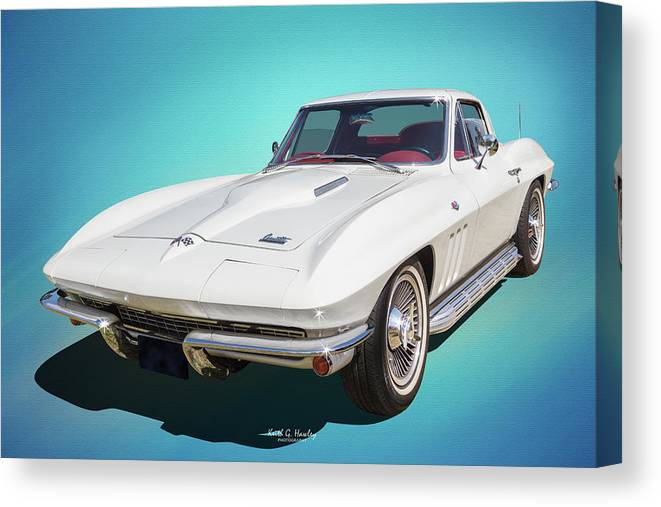 Car Canvas Print featuring the photograph 1966 Vette by Keith Hawley