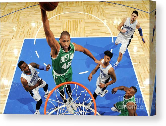Nba Pro Basketball Canvas Print featuring the photograph Boston Celtics V Orlando Magic 2 by Fernando Medina