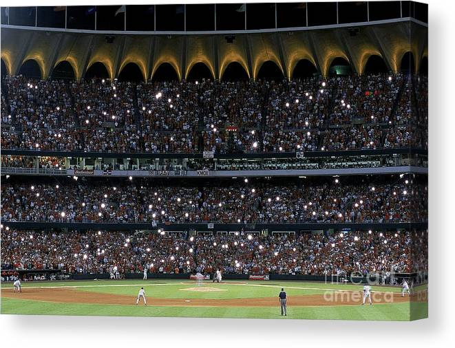Season Canvas Print featuring the photograph Mark Mcgwire 25 by Vincent Laforet