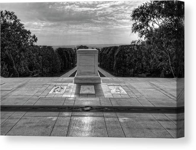 Craig Fildes Photography Canvas Print featuring the photograph Tomb Of The Unknown Soldier by Craig Fildes