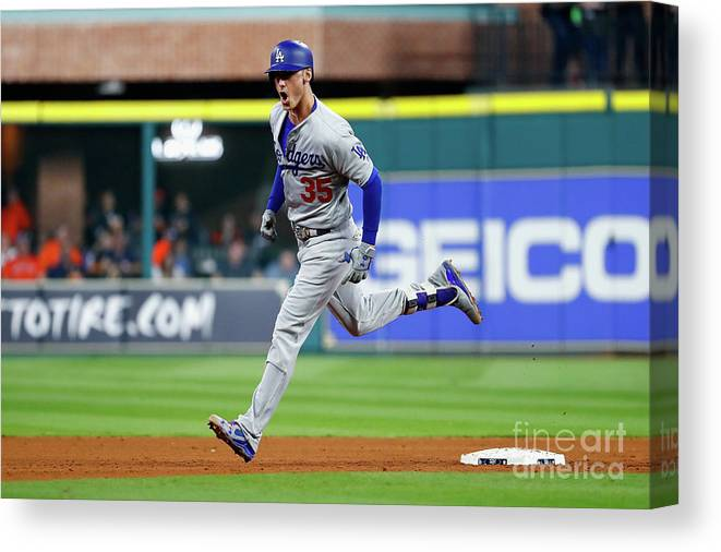 People Canvas Print featuring the photograph World Series - Los Angeles Dodgers V 2 by Jamie Squire