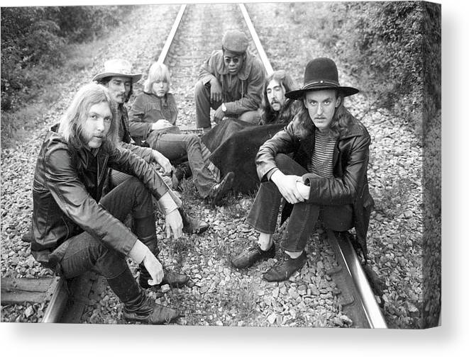 Music Canvas Print featuring the photograph Photo Of Allman Brothers 4 by Michael Ochs Archives
