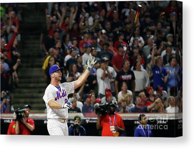 Three Quarter Length Canvas Print featuring the photograph T-mobile Home Run Derby by Gregory Shamus