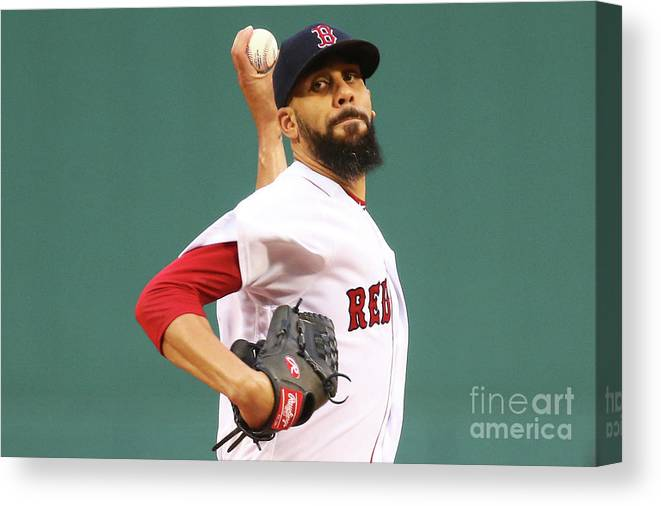 David Price Canvas Print featuring the photograph Tampa Bay Rays V Boston Red Sox 5 by Adam Glanzman