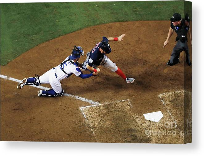 People Canvas Print featuring the photograph World Series - Boston Red Sox V Los 6 by Sean M. Haffey