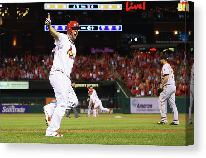 St. Louis Cardinals Canvas Print featuring the photograph Pittsburgh Pirates V St. Louis Cardinals 8 by Dilip Vishwanat