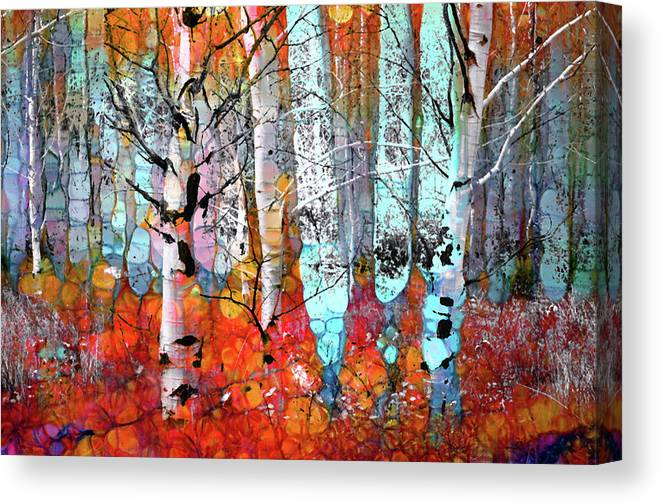 Tree Canvas Print featuring the photograph A Party In The Forest by Tara Turner