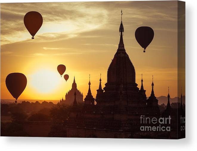 Magic Canvas Print featuring the photograph Amazing Misty Sunrise Colors And by Perfect Lazybones