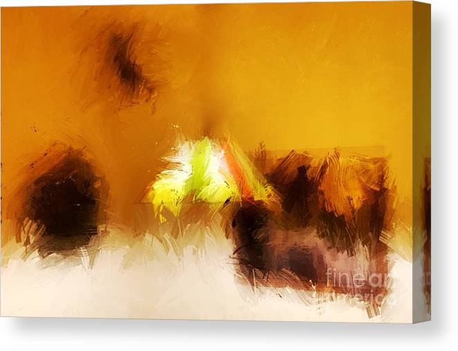 Abstract Canvas Print featuring the digital art As It Pertains To Me by Eddy Mann