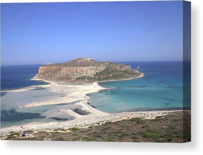 Blue Canvas Print featuring the photograph Balos Lagoon by Malina Catoiu