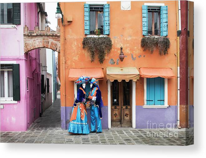 Carnival Canvas Print featuring the photograph Colors Of Burano by Linda D Lester