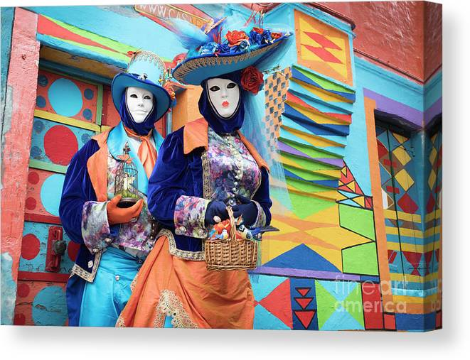 Carnival Canvas Print featuring the photograph Colors Of Carnival by Linda D Lester