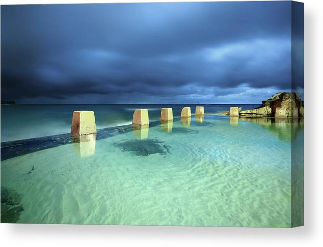 Coogee Canvas Print featuring the photograph Coogee Pool by Yury Prokopenko