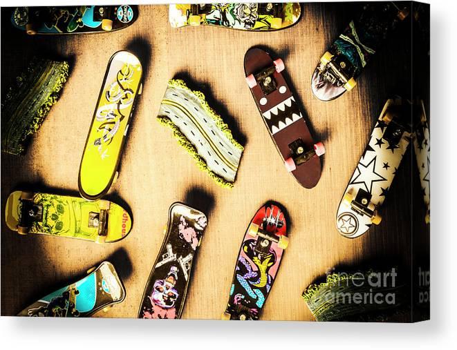Skateboarding Canvas Print featuring the photograph Deckadence by Jorgo Photography - Wall Art Gallery