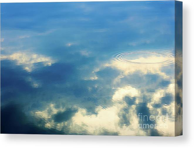 Abstract Canvas Print featuring the photograph Deep Blue Sky by Katsiaryna Shpihel