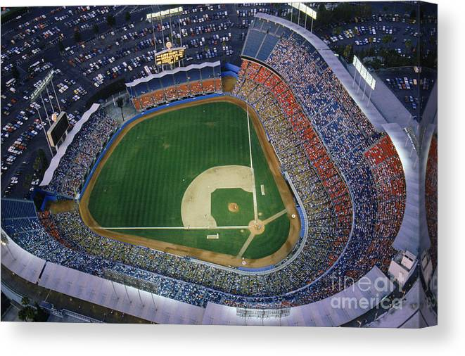 Viewpoint Canvas Print featuring the photograph Dodger Stadium by Getty Images