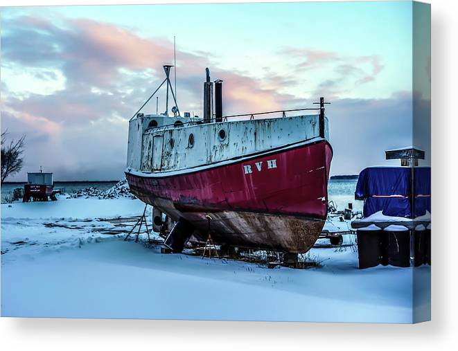 Rvh Canvas Print featuring the photograph 017 - Dry Dock by David Ralph Johnson