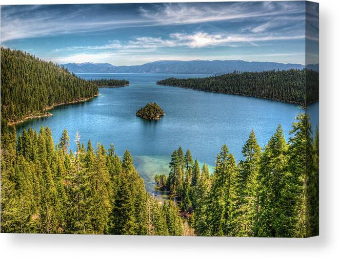 Scenics Canvas Print featuring the photograph Emerald Bay by Karsten May