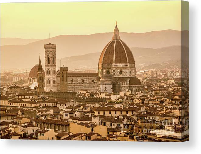 Florence Canvas Print featuring the photograph Florence Duomo by Delphimages Photo Creations