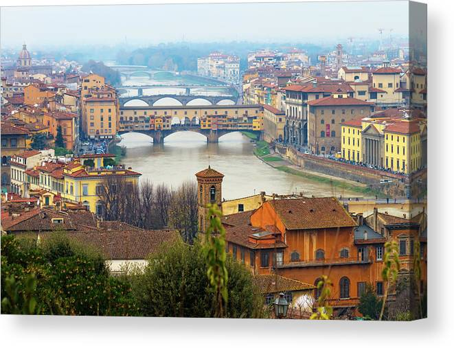 Outdoors Canvas Print featuring the photograph Florence Italy by Photography By Spintheday