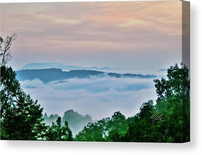 Fog Canvas Print featuring the photograph Fog In Deer Valley by Meta Gatschenberger