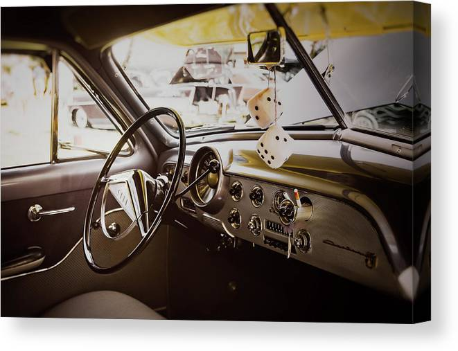 Vehicle Canvas Print featuring the photograph Fuzzy Dice by Scott Norris