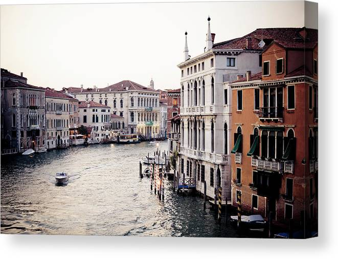 Motorboat Canvas Print featuring the photograph Grand Canal by Stuart Westmorland