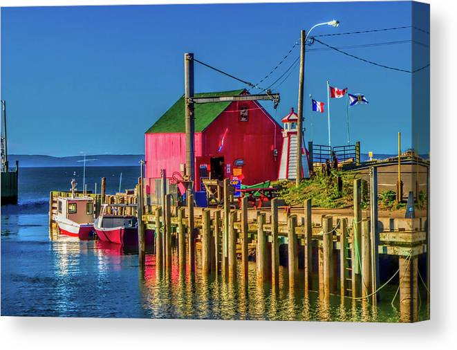 Nova Scotia Canvas Print featuring the photograph Halls Harbour Nova Scotia by David Smith