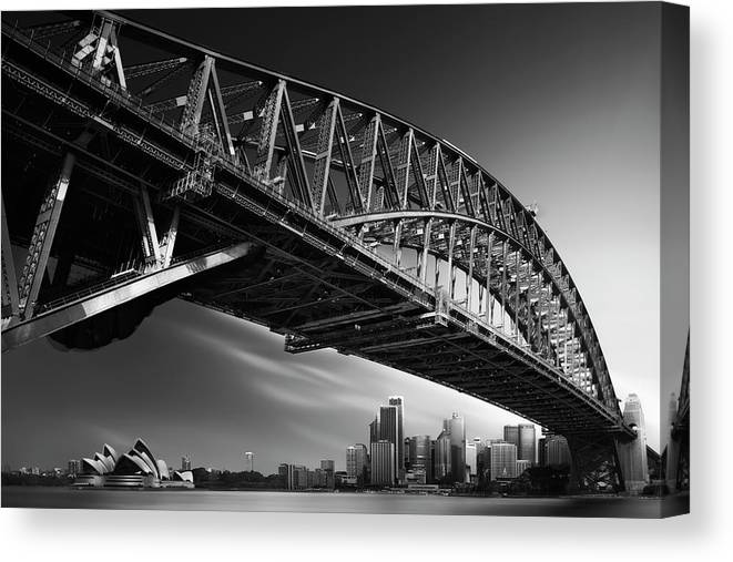 Sydney Canvas Print featuring the photograph Harbour Bridge Profile Mk.i by Dr. Akira Takaue