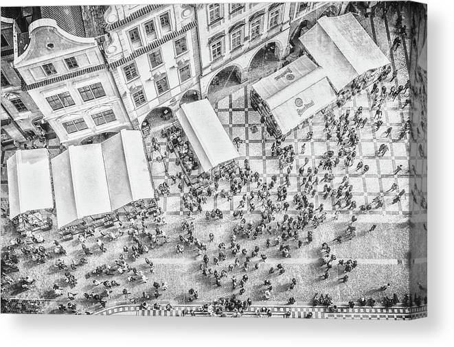 City Canvas Print featuring the photograph Humanoid Patterns by Bruno Flour