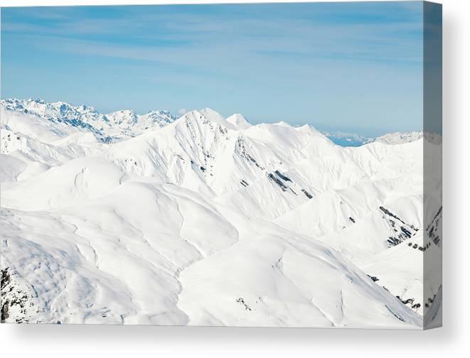 Scenics Canvas Print featuring the photograph La Grave Ski Resort by Marco Maccarini