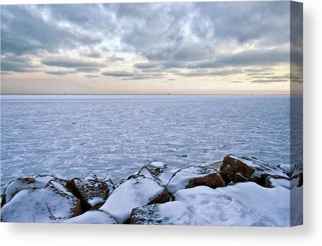 Tranquility Canvas Print featuring the photograph Lake Michigan by By Ken Ilio