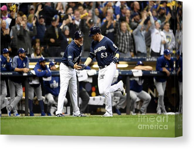 People Canvas Print featuring the photograph League Championship Series - Los by Stacy Revere