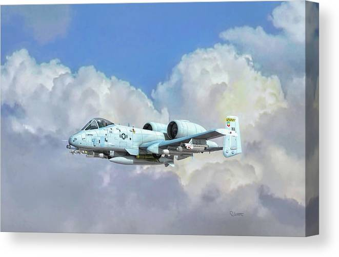 A-10 Canvas Print featuring the digital art Lethal Weapon by Dave Luebbert