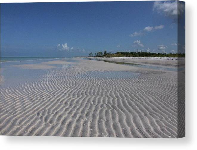 Beach Canvas Print featuring the photograph Lowtide Ripples by Eagle Finegan