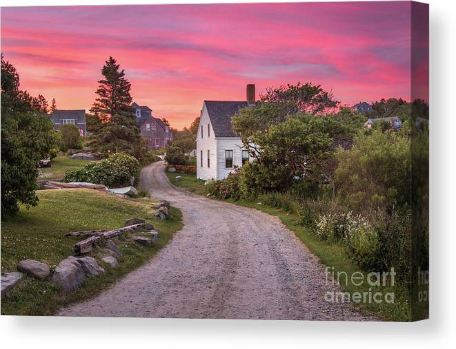 Art Canvas Print featuring the photograph Monhegan Island Maine by Benjamin Williamson